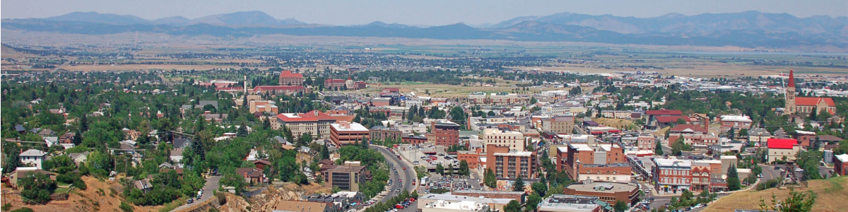 Image: Aerial View of Helena, MT