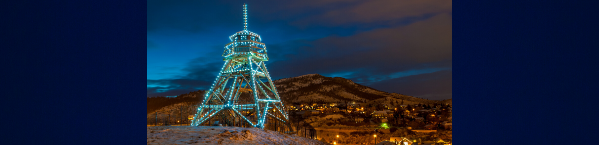 Image: Helena Fire Tower At Night