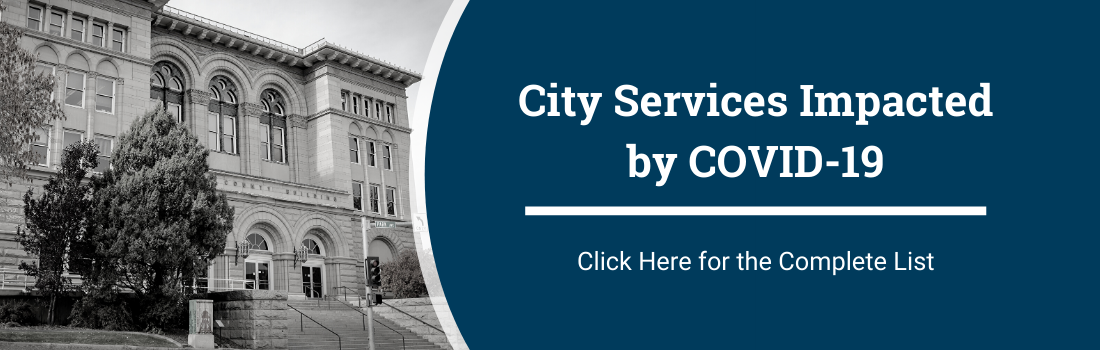 graphic - city services impacted by COVID19